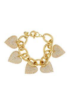 Sweet heart! Shop J.Crew's pave heart charm bracelet