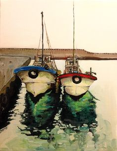 Fishing boats, oil painting / by EY Choi