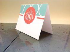 Personalized Notecard Set  Custom Monogram by TheWhiteInvite, $15.00