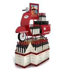 Ruffino Vespa Display / All, Wine, Beer and Spirits