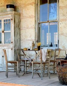 a grand, old, stone farmhouse set deep in the Hill Country of east Texas
