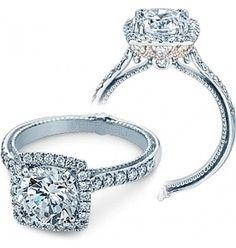 Verragio Halo Prong-Set Diamond Engagement Ring ENG-0430DCUTT