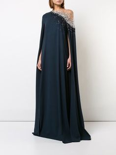 Solid Beading Oblique Neckline Maxi A-line, Dress - Dark Navy / S Source by floryday dresses elegant Fall Dresses, Elegant Dresses, Beautiful Dresses, Abaya Fashion, Couture Fashion, Women's Fashion, Dress Fashion, African Fashion Dresses, African Dress
