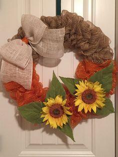 Sun Flower Wreath by ReneeDaviesCrafts on Etsy