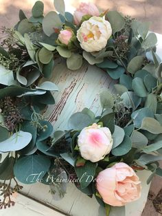 Excited to share this item from my shop: Farmhouse wreath eucalyptus wreath modern farmhouse wreath Peony Wreath fixer upper wreath Front Door Decor, Wreaths For Front Door, Eucalyptus Wreath, Seeded Eucalyptus, Modern Wreath, Artificial Peonies, Wedding Wreaths, Fall Wreaths, Farmhouse Decor