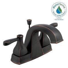Glacier Bay Milner 4 in. Centerset 2-Handle High-Arc Bathroom Faucet in Bronze