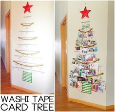 Washi tape card tree.