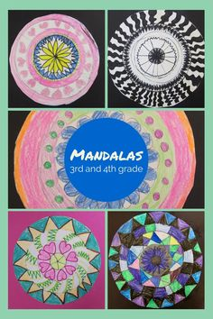 Materials you will need: Compass Pencil White paper Things to color with like markers, crayons, colored pencils Sharpies (optional) Crayola Twistable Neon Crayons (optional) Goals: understand the m… Kindergarten Art Lessons, Art Lessons For Kids, Art Lessons Elementary, Elementary Schools, 3rd Grade Art Lesson, Mandala Art Lesson, Drawing, Principles Of Art, School Art Projects