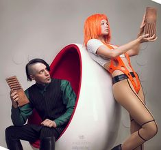 Leeloo & Zorg from The Fifth Element More at http://dailycosplay.com/2013/December/17b.html