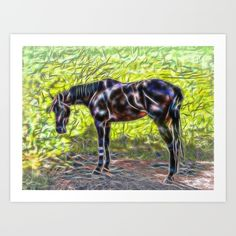 New on S6: https://society6.com/product/abstract-horse-standing-in-paddock_print?curator=hereswendy