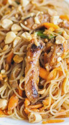 Hoisin Pork with Rice Noodles