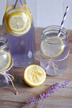 Limonada de lavanda para el dolor de cabeza y controlar la ansiedad