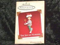 2005 THE JOY OF NURSING ORNAMENT Hallmark Nurse Mint in Good Box