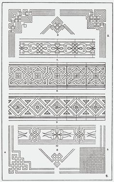 "From, ""A Handbook of Ornament"". 1898 by Franz Sales Meyer. From, ""A Handbook of Ornament"". 1898 by Franz Sales Meyer. Pattern Art, Pattern Design, 3d Prints, Celtic Designs, Border Design, Celtic Knot, Geometric Designs, Pyrography, Islamic Art"