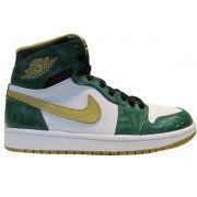 new arrivals d06bf ed8f8 555088-315 Air Jordan 1 Retro High Boston Garden OG Clover Metallic  Gold-White