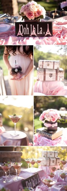 Paris-themed baby shower from Celebrate on Pretty My Party. Very cute for a girls baby shower.