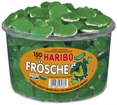 Haribo Frösche, Dose, 150 Stück, 1050g: Amazon.de: Lebensmittel & Getränke