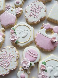 Baby Girl Cookies, Baby Shower Cookies, Baby Gift Box, Baby Gifts, Royal Icing Cookies, Sugar Cookies, Fall Cookies, Baby Shower Gender Reveal, Custom Cookies