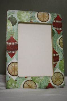 Lovely Christmas ornament 4x6 picture frame by TipToeDesign, $10.00
