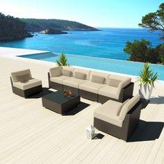 Uduka Outdoor Sectional Patio Furniture Espresso Brown Wicker Sofa Set Daly 7 Light Beige All Weather Couch Uduka http://www.amazon.com/dp/B00J5APKJC/ref=cm_sw_r_pi_dp_eRfevb098AZQB