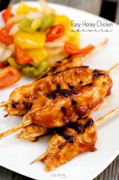 honey chicken skewers - so easy!!