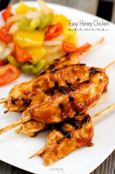 honey chicken skewers - so easy!!