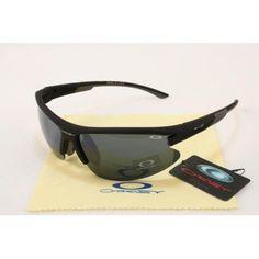 2013 new Oakley Asian Fit Sunglasses matte black frames black lens | See more about black frames, matte black and oakley.
