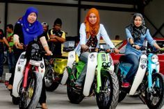 Street Cub Girls On Bikes