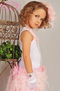 Paris Chic Couture Beautfiul Girls Ostrich Skirt by sharpsissors, $158.00