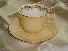 Aynsley Cup and Saucer Set - English Bone China from janshelley on Ruby Lane