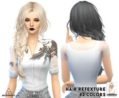 Miss Paraply: Hair retextured in 42 colors • Sims 4 Downloads