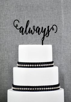 Our romantic always wedding cake topper adds an elegant touch to any wedding. It is a beautiful wedding cake decoration that will make a lasting