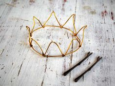 wire crown. What if was bigger - with lights wrapped around it?
