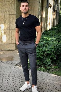 14 Casual LowTop Sneaker Outfits Honcho Lifestyle mensfashiontrends is part of Sneakers men fashion - Stylish Mens Outfits, Casual Outfits, Men Casual, Swag Outfits, Trendy Mens Fashion, Smart Casual Outfit, Summer Outfits Men, Business Casual Herren, Suit Fashion