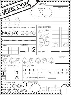 Pocket Full of Kinders!: Math Morning Work for kinders. A great a way to get the kiddos to practice foundational math skills in a systematic and practical way! Kindergarten Homework, Kindergarten Morning Work, Kindergarten Centers, Kindergarten Readiness, Learning Centers, Literacy Centers, Kindergarten Classroom, Teaching Math, Maths