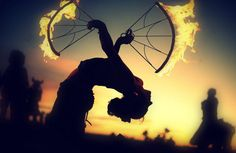 Beautiful Fire Twirling Events :)