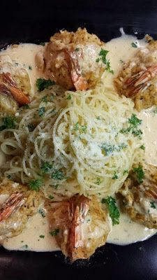 CRAB-STUFFED SHRIMP - 4 ounces fresh mushrooms, finely chopped  2 Table..