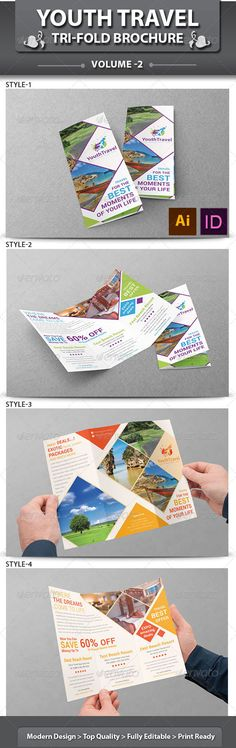 Travel Brochure Design | World Tri-Fold Best Travel Brochures