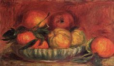 Pierre Auguste Renoir (1841-1919) - Still Life with Apples and Oranges  - 1897 ca. - Private Collection