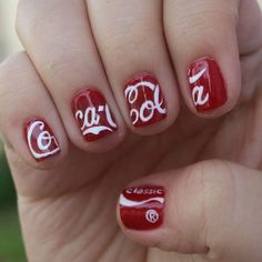Coca Cola nails