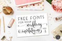 Free Fonts for DIY Wedding Invitations – Volume 4 (Elegance & Enchantment) Hobby Lobby Wedding Invitations, Wedding Invitation Fonts, Wedding Fonts, Invitation Paper, Free Wedding, Wedding Stationary, Handmade Wedding, Diy Wedding, Wedding Ideas