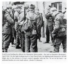 Lord Lovat briefing officers for Operation Abercrombie
