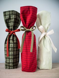 Dear Edna 2013 Holiday Collection / Wine Gift Bag / Set of 3 / Choose from 16 festive by DearEdna, $15.00