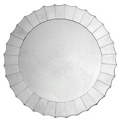 Antiqued Mirror from Oly Studio with scalloped border. One size.