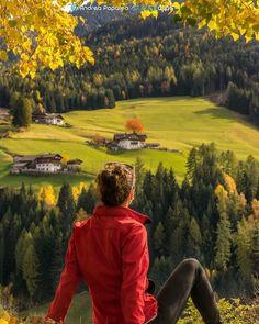 I colori dell'autunno in Val di Funes San Pietro Trentino-Alto Adige ---- Autumnal colors in u Valley San Peter Trentino-Alto Adige Italy