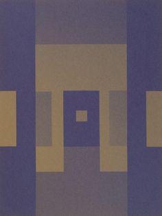 Ernst Caramelle, O.T., 1986 Lichtarbeit auf violettem Papier | purple paper…