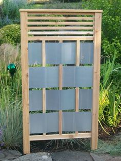 privacy screen. I did the woven panels on my standard metal fence ...