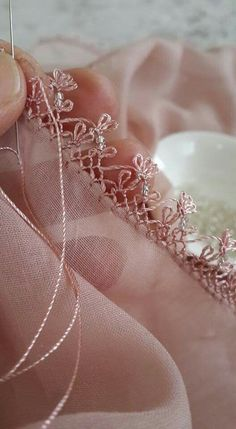 Lovely beaded embroidery.