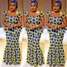 Creative Aso Ebi Skirt and Blouse Styles . Creative Aso Ebi Skirt and Blouse Styles Latest African Fashion Dresses, African Dresses For Women, African Attire, African Wear, African Women, African Outfits, African Print Dress Designs, African Print Dresses, African Print Fashion