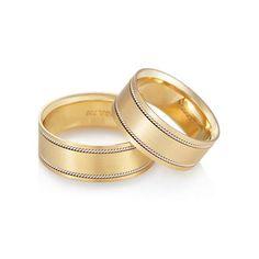 Alianças Ouro Amarelo e Ouro Branco Honeymoon (Par de Aliança) Vivara